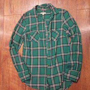 Merona plaid button up shirt